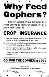 Annonce pour la suppression des gophers