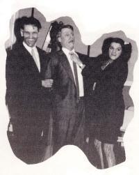 Alphonse Gaudet, Jeff Soucy et Carmen Gareau