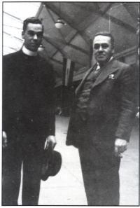André avec son père, Adrien Mercure
