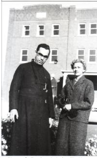 André Mercure avec sa soeur, Lise