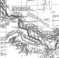 Carte de la région entre Battleford et Frog Lake