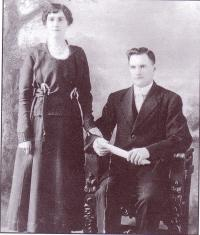 Cécile Mélançon et son époux, Joseph gaudet