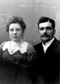 Clovis Duguay, père de Florette et son épouse Annie Descoteaux