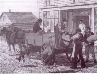Devant le magassiin Letendre à Batoche