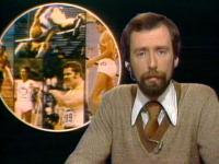 Jean Lefebvre le lecteur des nouvelles sportives lors de la première saison