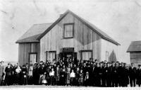 l?abbé Jules Bois célèbre la messe pour la première fois à Fournierville