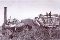 L?arrivée de batteuses et d?engins à vapeur dans la prairie canadienne