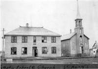 L'église St. Mary's et l'école Gratton