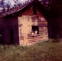 La maison en billot à Bear Trap Lake