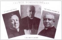 Les trois fondateur du Collège Mathieu
