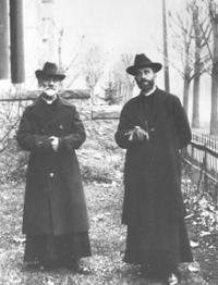 Père Achille-Félix Auclair et l'abbé Elzéar