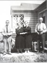 Quatre des six enfants de Camille Gaudet
