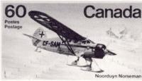Timbre canadien commémorant les avions Norseman